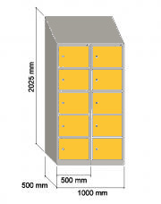 Taquilla de vestuario serie SI | Muebles de oficina Granada | IMOC.es